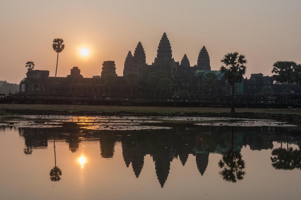 """Sunrise at Angkor Wat, the """"classic"""" way."""