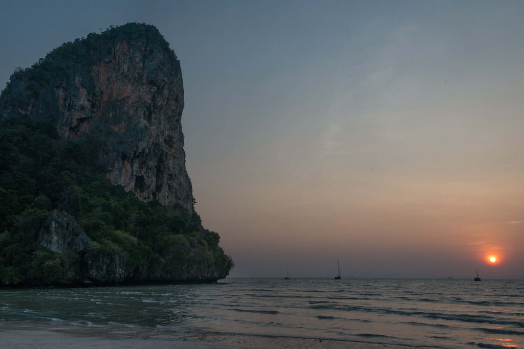 Sunset at Railay beach.