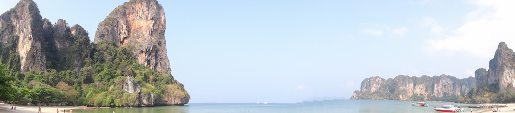Panorama of Railay beach.