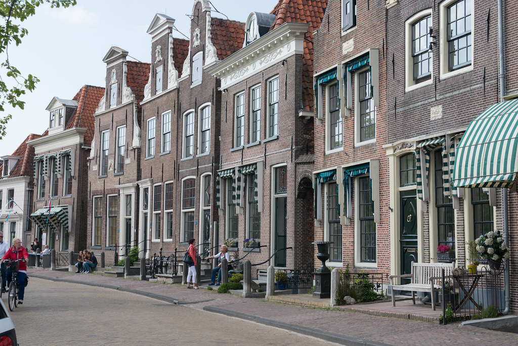 Typical Dutch houses in a town where we had a snack.