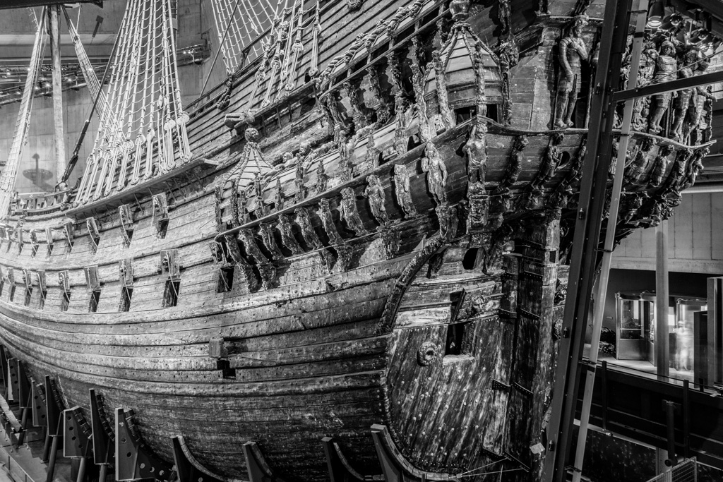 The Vasa ship.