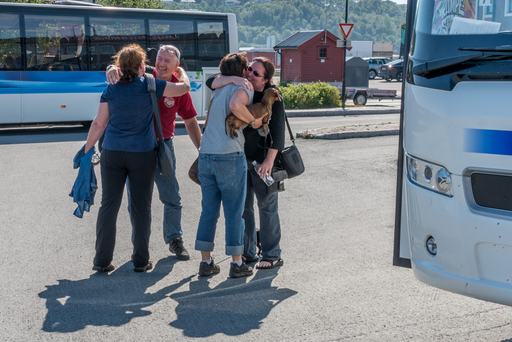 Eirik and Gry arrive in Harstad.