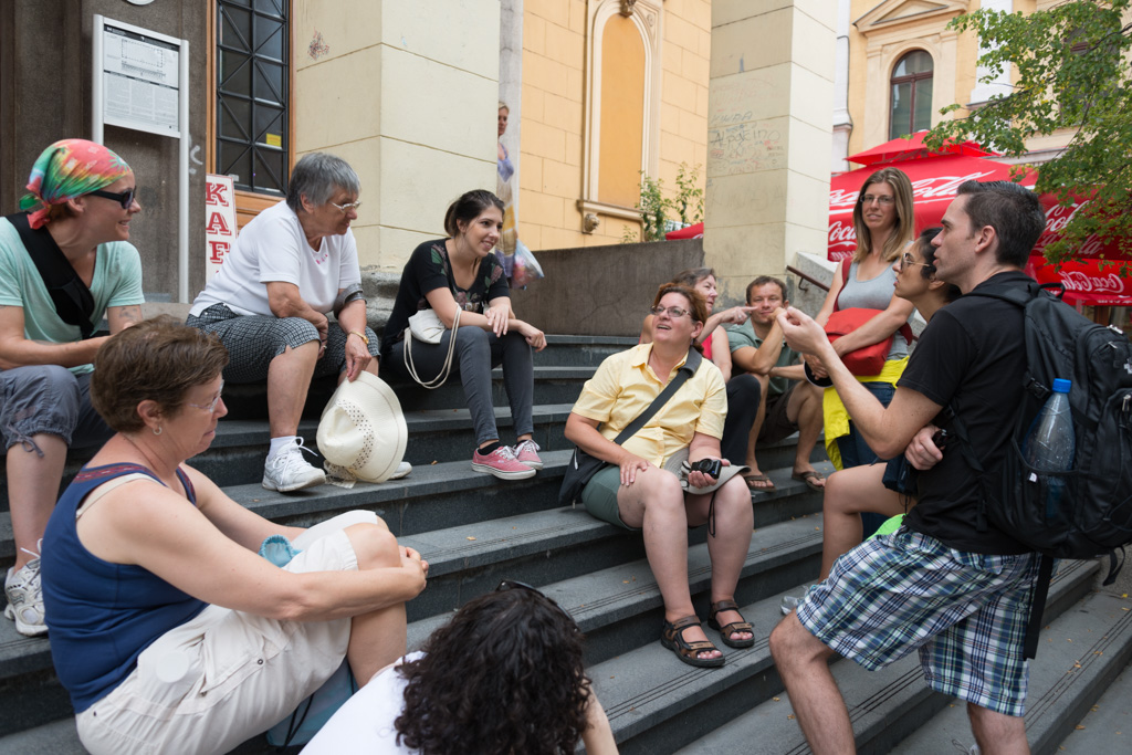 Our guide told us the compelling tale of her family's suffering during the siege.