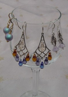 EARRINGS mermaid tail Orm pearl Crop