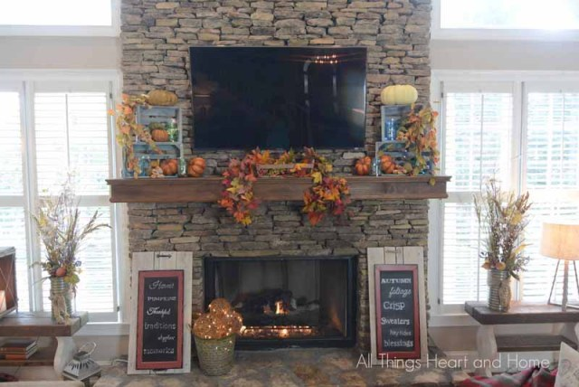 all things heart and home fall mantel