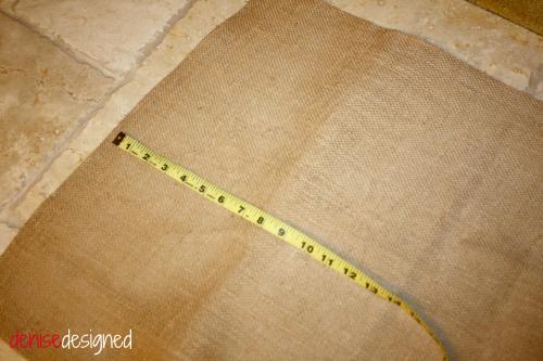 burlap measure