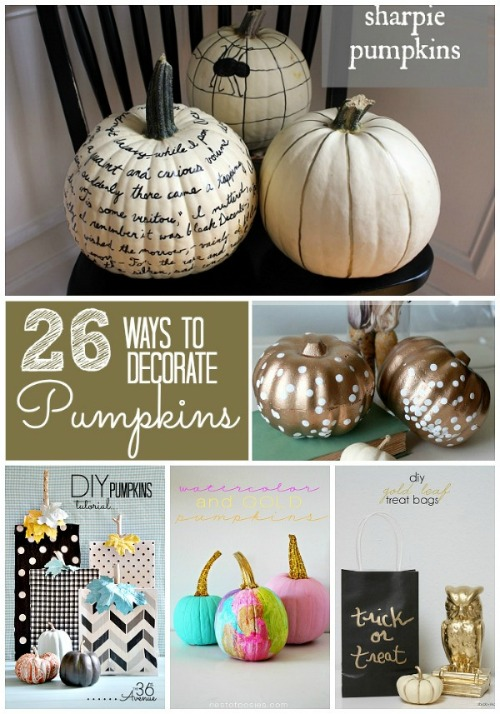 halloween round-up 26-ways-to-decorate-pumpkins