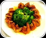 Butterfly Shrimps with Broccoli