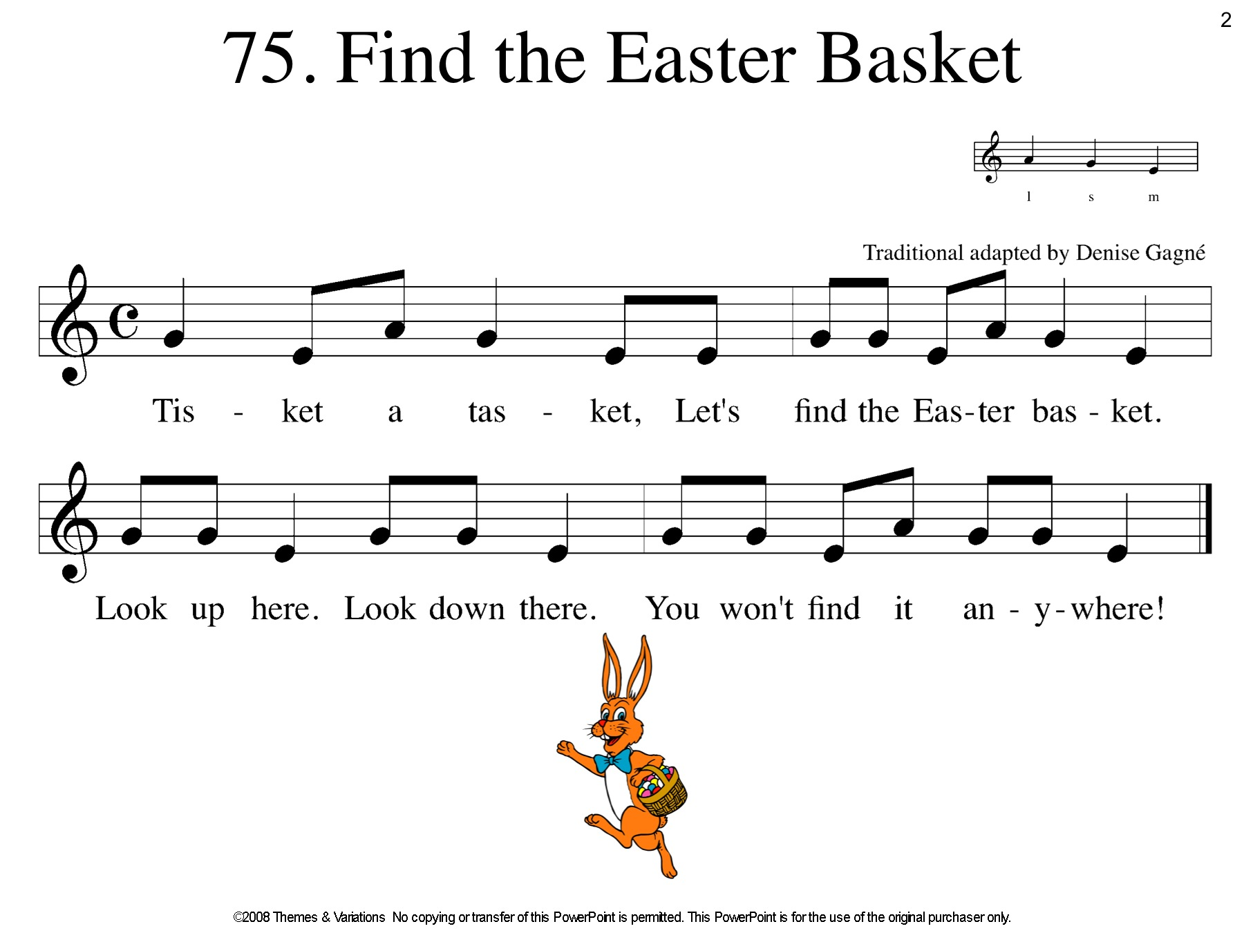 75 Find The Easter Basket