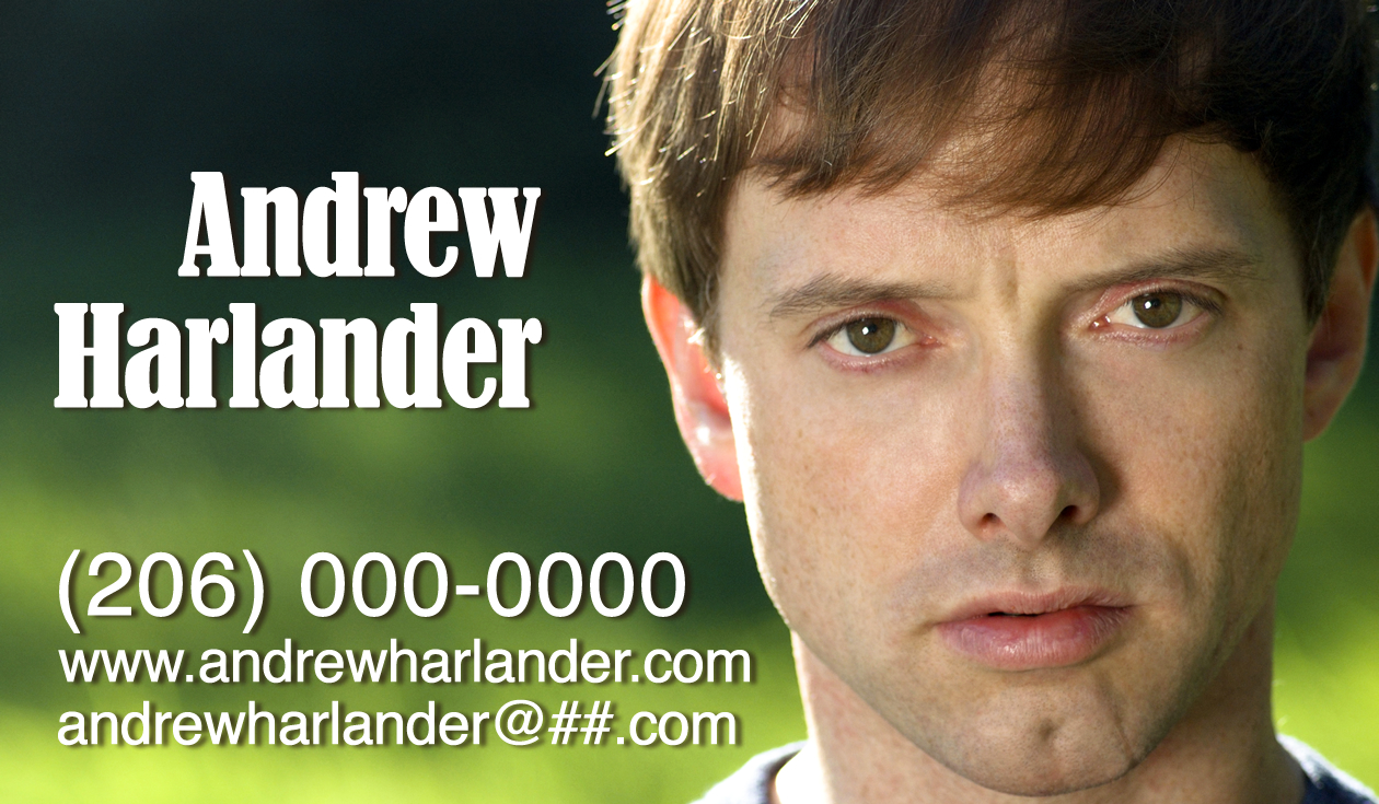 Business cards and marketing materials denise george andrew harlander actor magicingreecefo Choice Image