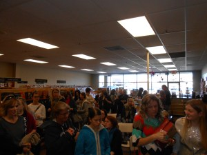 Crowd at the book signing