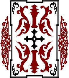 crusader war shield with a cross. Vector illustration