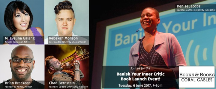 Come to the Banish Your Inner Critic Book Launch Event at Books & Books!