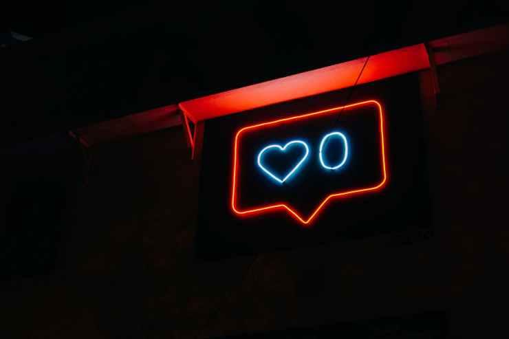 heart and zero neon light signage