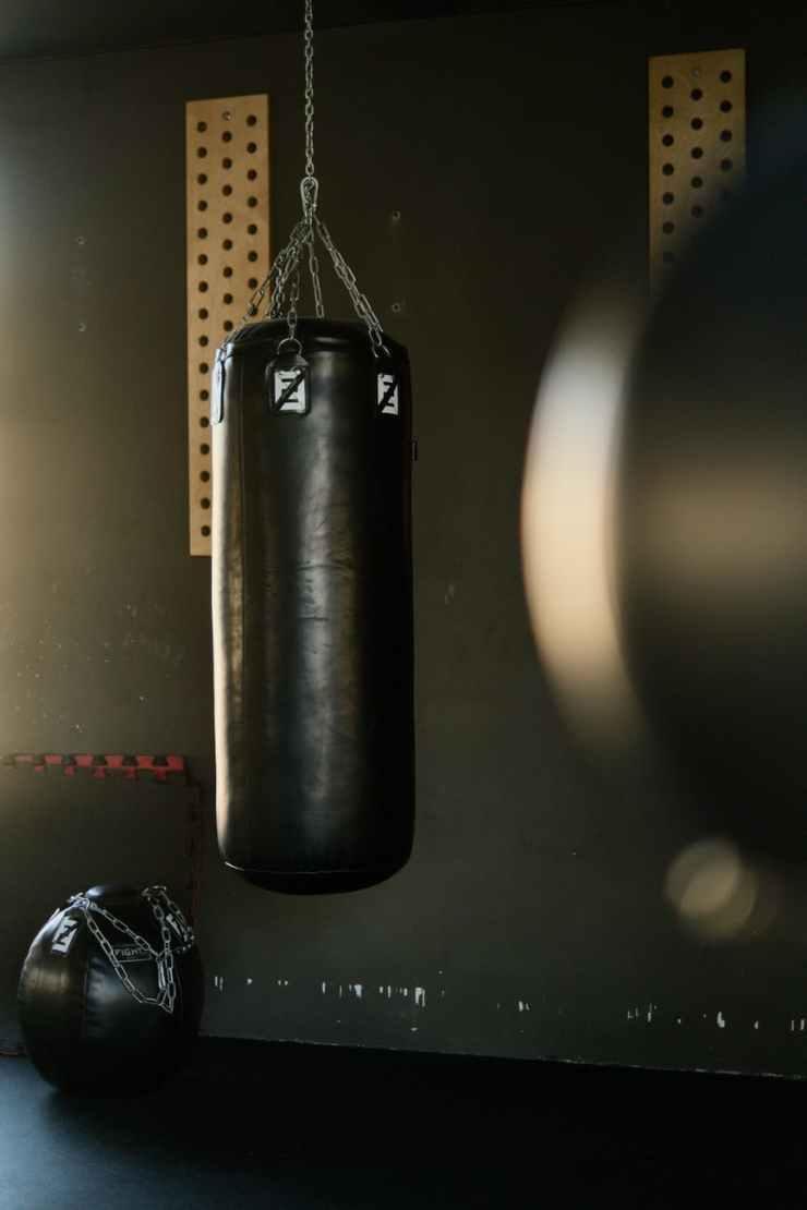 black punching bag