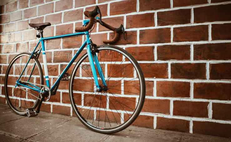 blue road bike