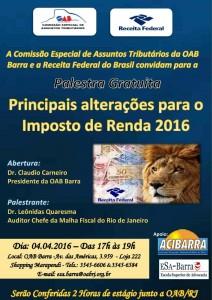 Palestra IR 2016 na OAB Barra