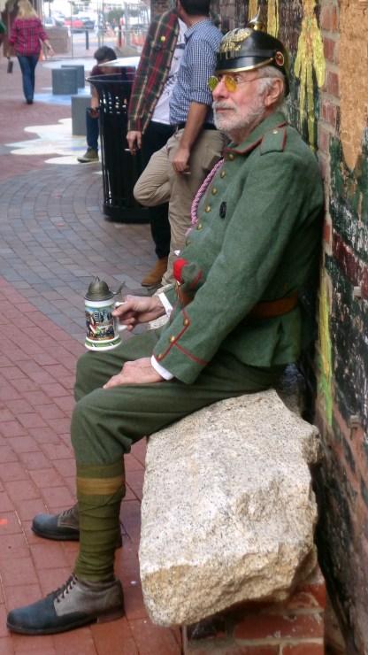 Gentleman enjoying his German outsfit and bier stein
