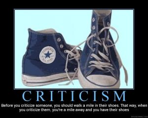 Criticism shoes