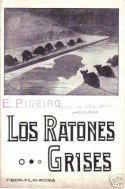 """Brochure spagnola del serial di E. Ghione """"I Topi Grigi"""" (Tiber Film 1918)."""