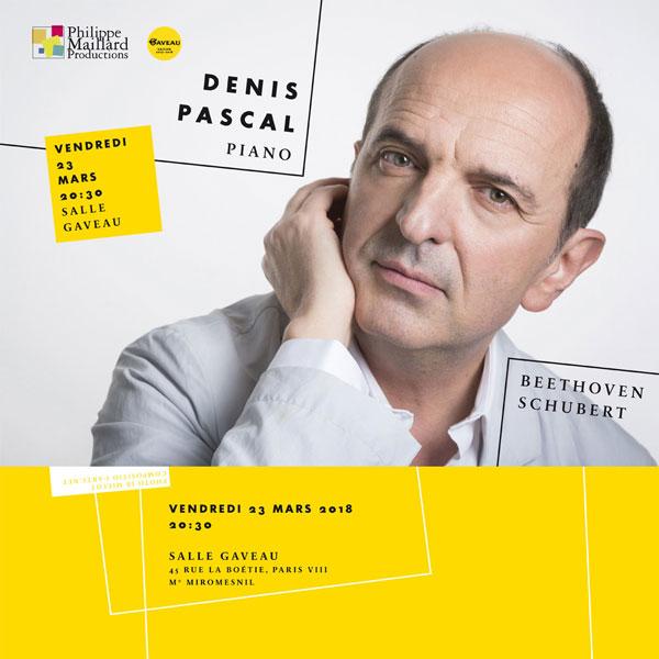 Denis Pascal concert salle Gaveau 23 mars 2018