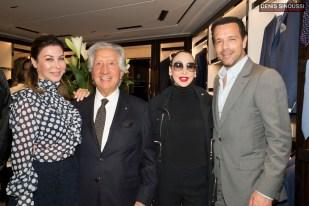 Eva Benhamou, Carlo Alberto Corneliani, Stefanie Renoma et Olivier Careras