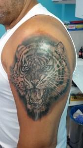 tatuaggio volto tigre