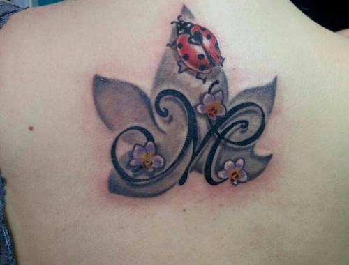 Tatuaggio Lettering Tatuaggio Coccinella
