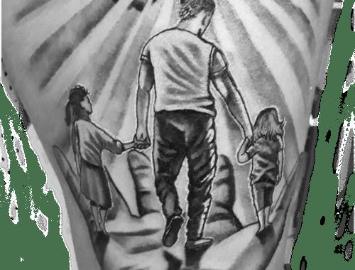 Denis Trevisani tatuatore Verona - Tatuaggio famiglia
