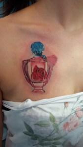 boccetta di profumo - Tatuaggio
