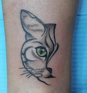 Metà Gatto Tatuaggio