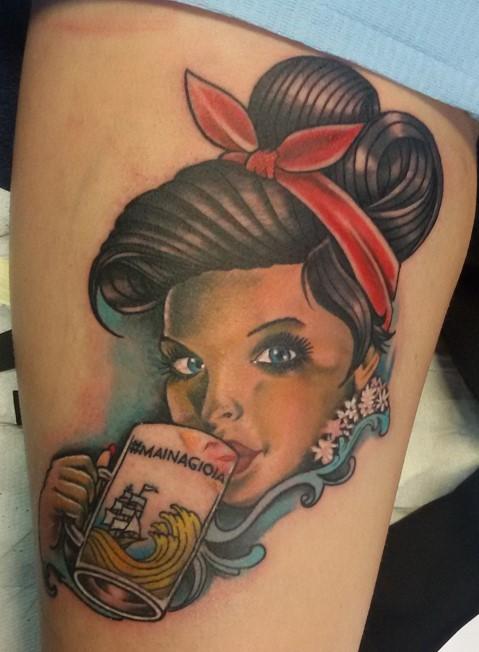 Tatuaggio Pin up