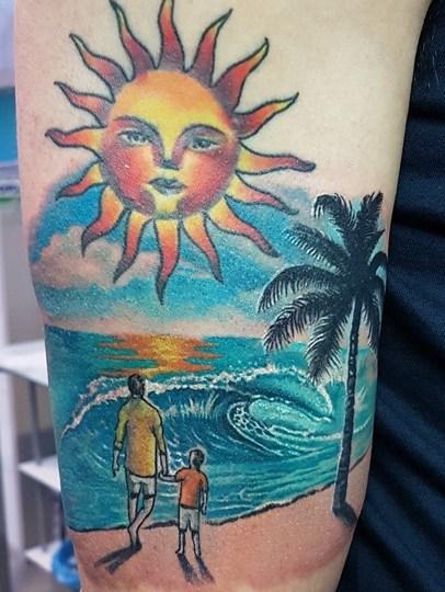 Tatuaggio paesaggio
