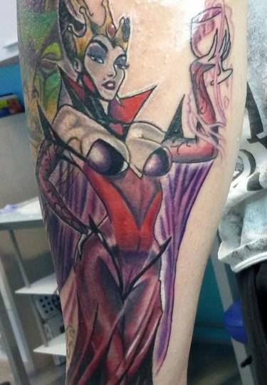 Tatuaggio strega cattiva
