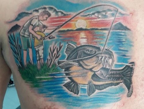 Tatuaggio pescatore