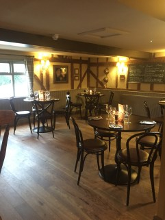 Fine dining at the Crown and Punchbowl, Horningsea, Cambridge