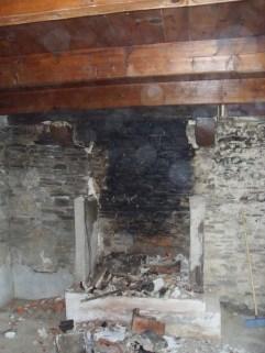 Kernolou 2009 Old Fireplace nearly gone