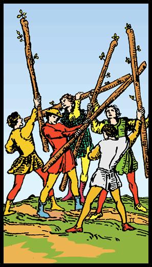 Asaların Beşlisi - Tarot Kartı