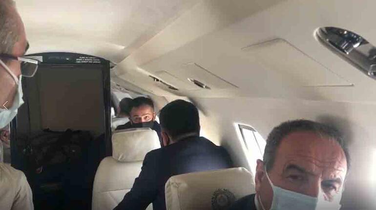 Son dakika... İşte uçağın içinden o anlar Bakan Pakdemirlinin uçağı acil iniş yaptı