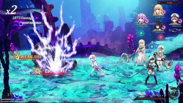 Super Neptunia RPG combat Neptune