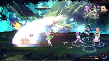 Super Neptunia RPG combat Blanc