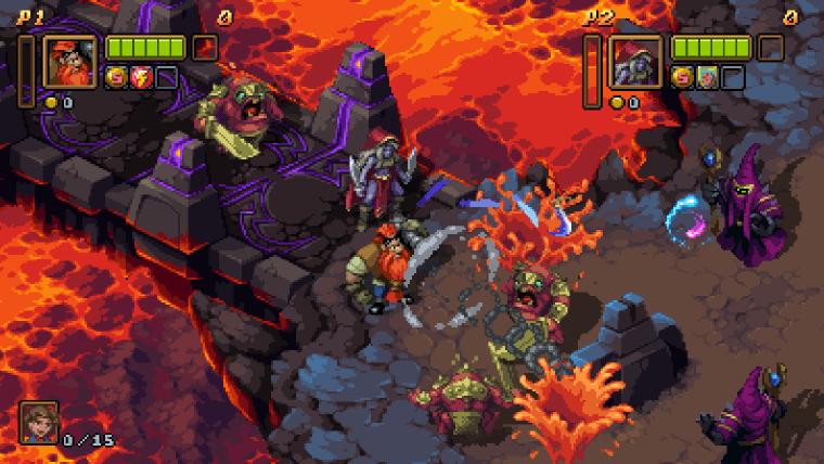 lava in battle axe