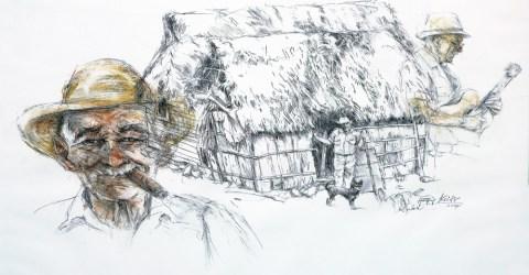 """Ausstellung """"Begegnung mit Kuba"""" Zeichnungen von Hetty Krist"""