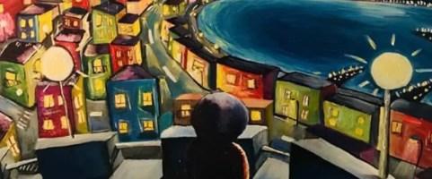 """Mittwoch, 30.5.2018, 20:30 Uhr – """"El Viaje – live music: Davide Porzio, live painting: Marco Delle Donne"""""""