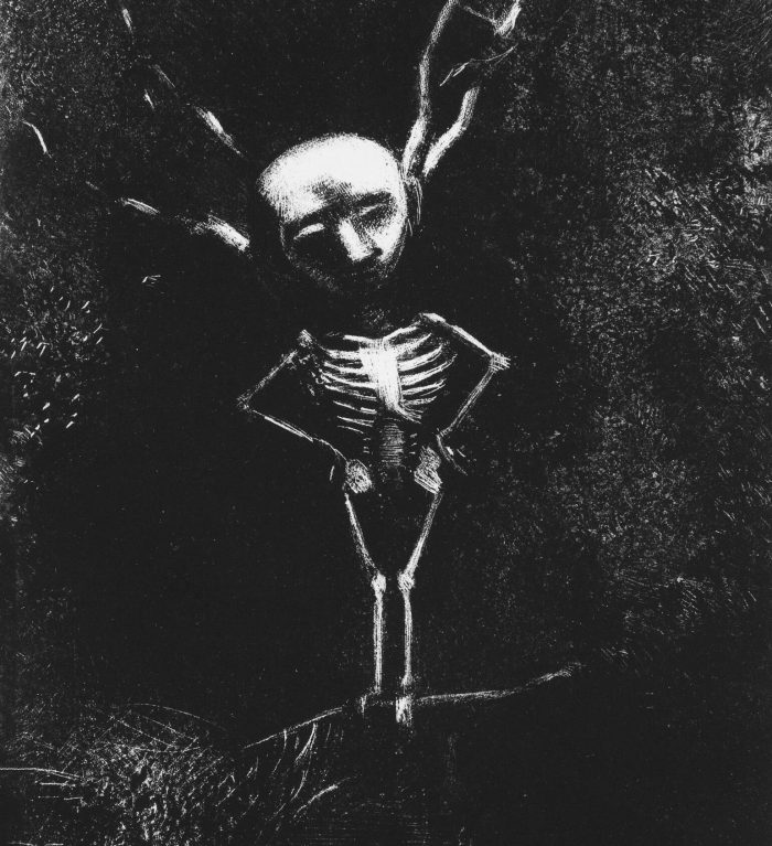 Bild: Odilon Redon, In the Maze of Branches the Pale Figure Appeared (1887)