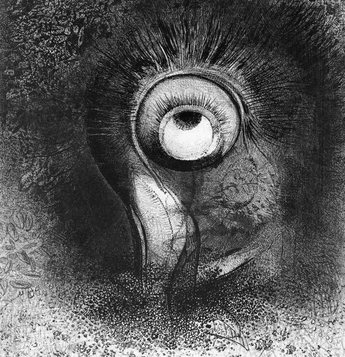 Bild: Odilon Redon, There Was Perhaps a First Vision Attempted by the Flower (1883)