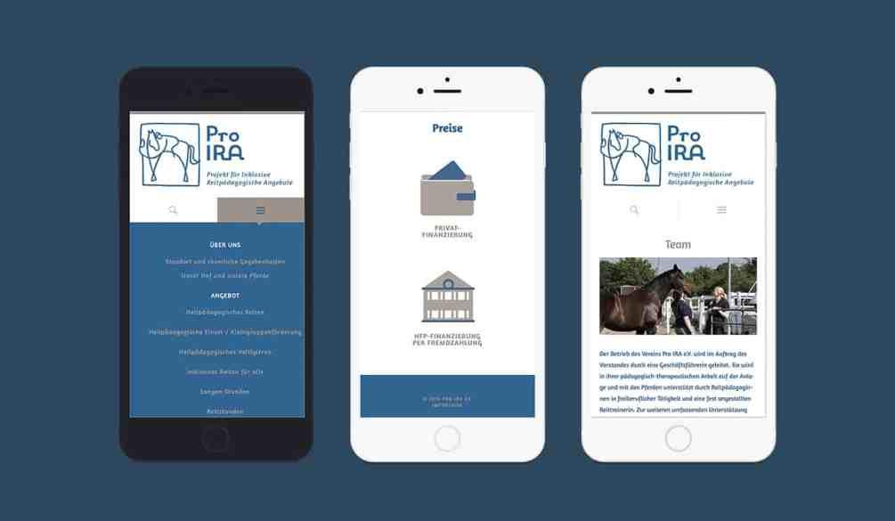 Denken und Handeln – die Konzeptagentur für langfristige Gestaltung hat für Pro Ira das Webdesign responsive gestaltet