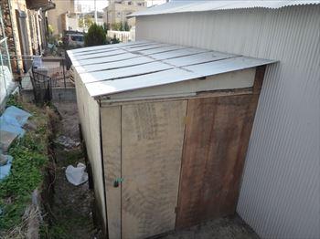 プレハブ冷蔵庫設置場所