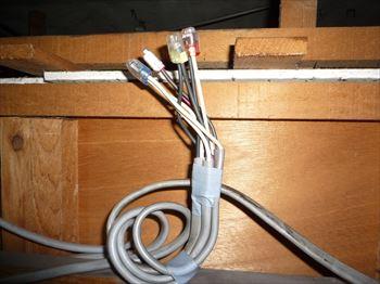 天井裏電源接続箇所