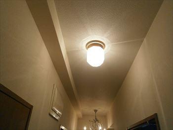 廊下直付照明撤去